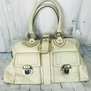 Marc Jacobs Leather Handbag Venetia Ivory Satchel